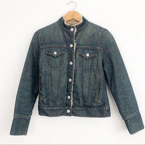 GAP Vintage Sherpa Fleece Lined Jean Jacket